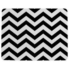 Black And White Chevron Jigsaw Puzzle Photo Stand (rectangular) by BangZart
