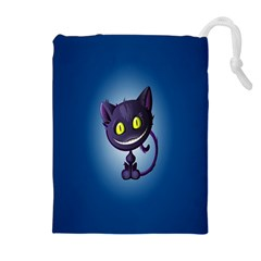 Funny Cute Cat Drawstring Pouches (extra Large)