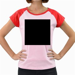 Black Women s Cap Sleeve T Shirt