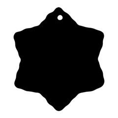 Black Ornament (snowflake) by BangZart