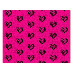 Lovely Hearts 17a Rectangular Jigsaw Puzzl by MoreColorsinLife