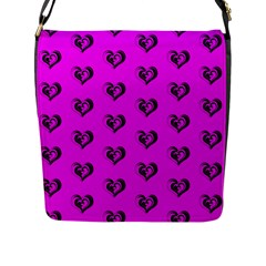 Lovely Hearts 17c Flap Messenger Bag (l)  by MoreColorsinLife