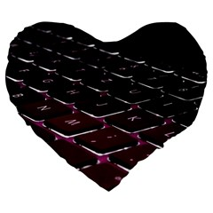 Computer Keyboard Large 19  Premium Heart Shape Cushions