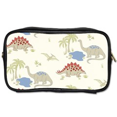 Dinosaur Art Pattern Toiletries Bags 2 Side by BangZart