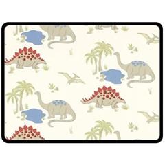 Dinosaur Art Pattern Double Sided Fleece Blanket (large)  by BangZart