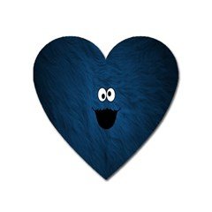 Funny Face Heart Magnet by BangZart