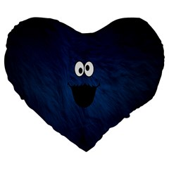 Funny Face Large 19  Premium Heart Shape Cushions by BangZart