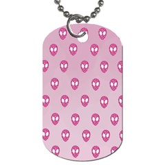 Alien Pattern Pink Dog Tag (two Sides) by BangZart