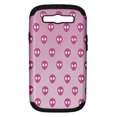 Alien Pattern Pink Samsung Galaxy S Iii Hardshell Case (pc+silicone) by BangZart