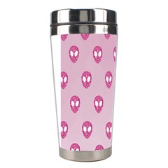 Alien Pattern Pink Stainless Steel Travel Tumblers by BangZart