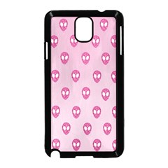 Alien Pattern Pink Samsung Galaxy Note 3 Neo Hardshell Case (black) by BangZart