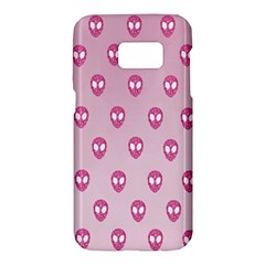 Alien Pattern Pink Samsung Galaxy S7 Hardshell Case  by BangZart
