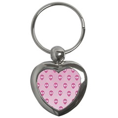 Alien Pattern Pink Key Chains (heart)  by BangZart