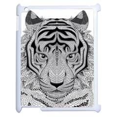 Tiger Head Apple Ipad 2 Case (white) by BangZart