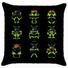 Beetles Insects Bugs Throw Pillow Case (black) by BangZart