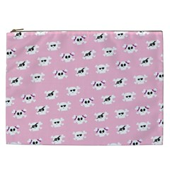 Girly Girlie Punk Skull Cosmetic Bag (xxl)  by BangZart