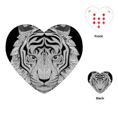 Tiger Head Playing Cards (heart)  by BangZart