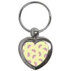 Watermelon Wallpapers  Creative Illustration And Patterns Key Chains (heart)  by BangZart