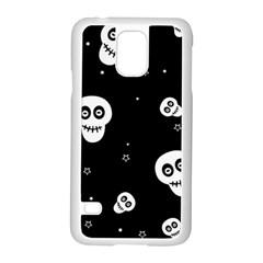Skull Pattern Samsung Galaxy S5 Case (white) by BangZart