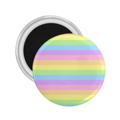 Cute Pastel Rainbow Stripes 2 25  Magnets