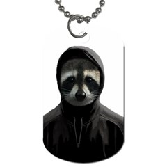 Gangsta Raccoon  Dog Tag (two Sides) by Valentinaart