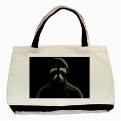 Gangsta Raccoon  Basic Tote Bag by Valentinaart