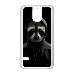 Gangsta Raccoon  Samsung Galaxy S5 Case (white) by Valentinaart