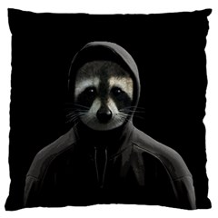 Gangsta Raccoon  Large Flano Cushion Case (two Sides) by Valentinaart