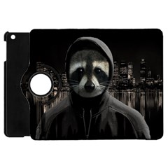 Gangsta Raccoon  Apple Ipad Mini Flip 360 Case by Valentinaart