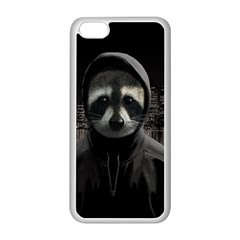 Gangsta Raccoon  Apple Iphone 5c Seamless Case (white) by Valentinaart