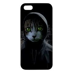 Gangsta Cat Iphone 5s/ Se Premium Hardshell Case by Valentinaart