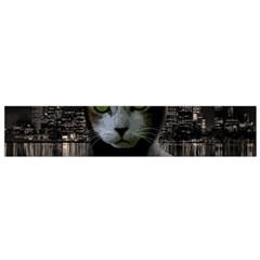 Gangsta Cat Flano Scarf (small) by Valentinaart