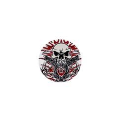 Skull Tribal 1  Mini Buttons by Valentinaart