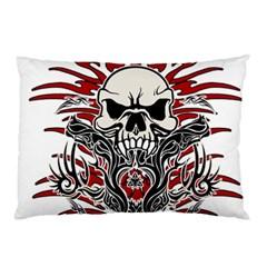 Skull Tribal Pillow Case by Valentinaart