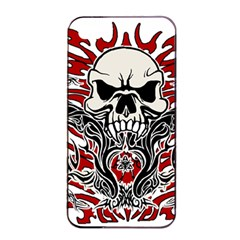 Skull Tribal Apple Iphone 4/4s Seamless Case (black) by Valentinaart