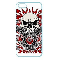 Skull Tribal Apple Seamless Iphone 5 Case (color) by Valentinaart