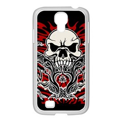 Skull Tribal Samsung Galaxy S4 I9500/ I9505 Case (white) by Valentinaart