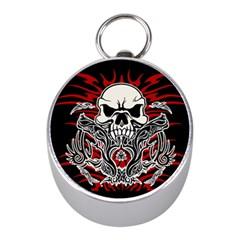 Skull Tribal Mini Silver Compasses by Valentinaart