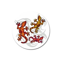 Ornate Lizards Magnet 3  (round) by Valentinaart