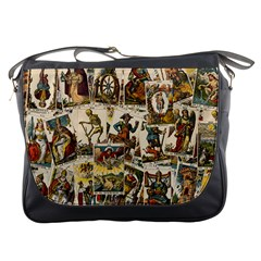 Tarot Cards Pattern Messenger Bags by Valentinaart