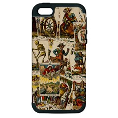 Tarot Cards Pattern Apple Iphone 5 Hardshell Case (pc+silicone) by Valentinaart