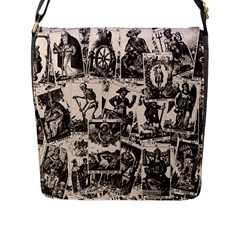 Tarot Cards Pattern Flap Messenger Bag (l)  by Valentinaart