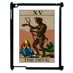 The Devil   Tarot Apple Ipad 2 Case (black) by Valentinaart