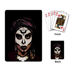 Voodoo  Witch  Playing Card by Valentinaart