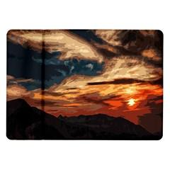 Landscape Samsung Galaxy Tab 10 1  P7500 Flip Case by Valentinaart