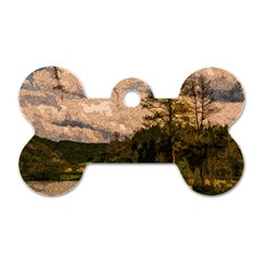 Landscape Dog Tag Bone (one Side) by Valentinaart