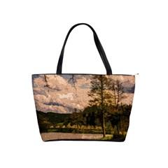 Landscape Shoulder Handbags by Valentinaart