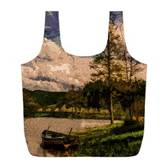 Landscape Full Print Recycle Bags (l)  by Valentinaart