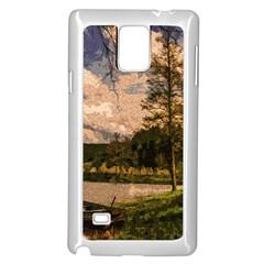 Landscape Samsung Galaxy Note 4 Case (white) by Valentinaart