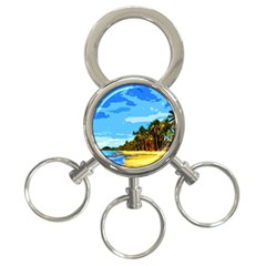 Landscape 3 Ring Key Chains by Valentinaart
